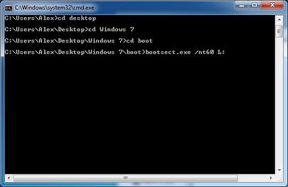 bootsect windows 7
