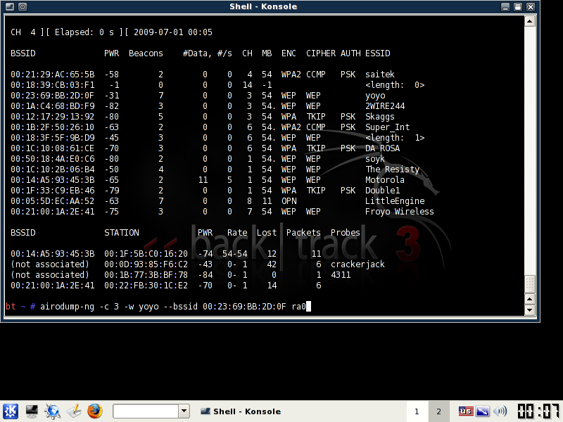 tomsnetworking how to crack wep backtrack